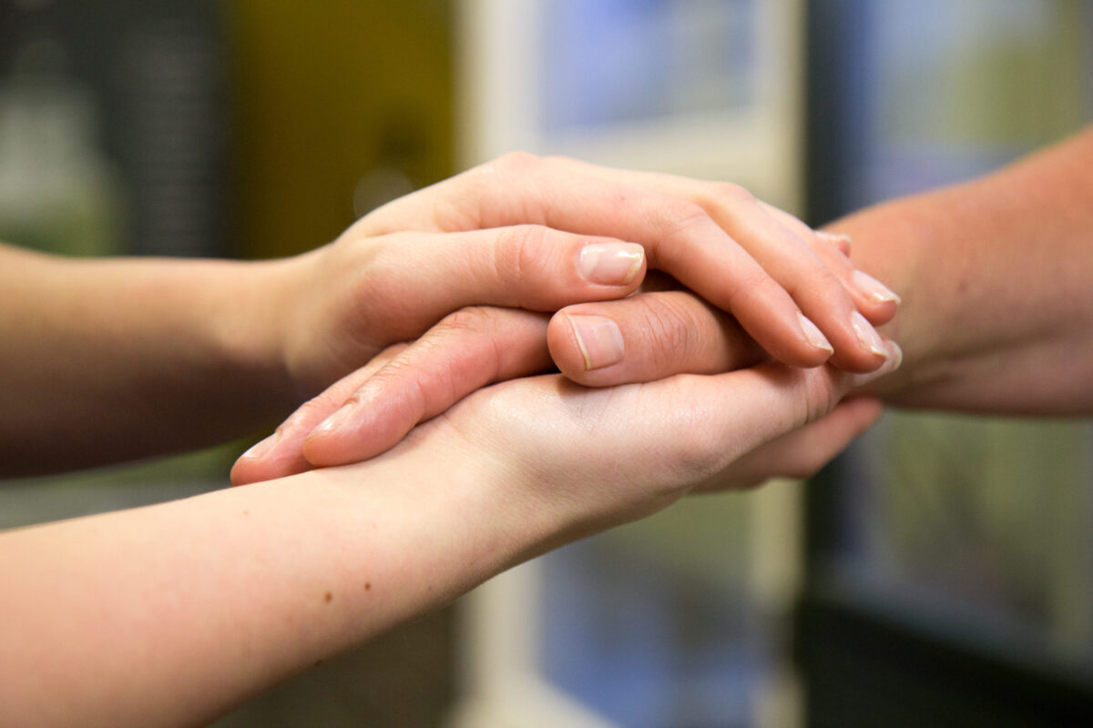 ouderen handen